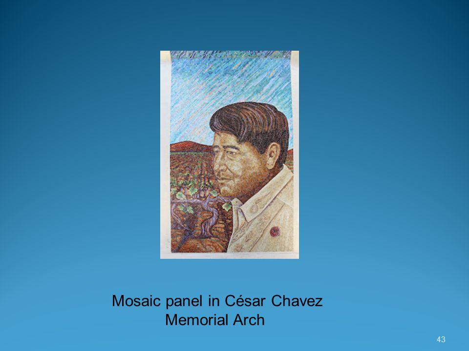 43 Mosaic panel in César Chavez Memorial Arch