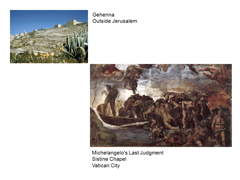 Michelangelo s Last Judgment Sistine Chapel Vatican City Gehenna Outside Jerusalem