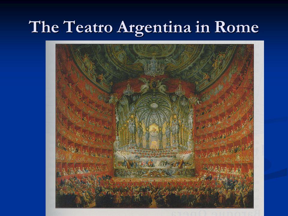 The Teatro Argentina in Rome