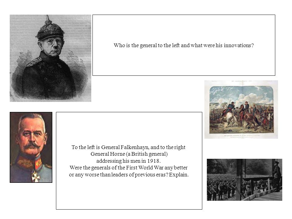 Who is the general to the left and what were his innovations.