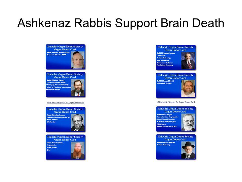 Ashkenaz Rabbis Support Brain Death