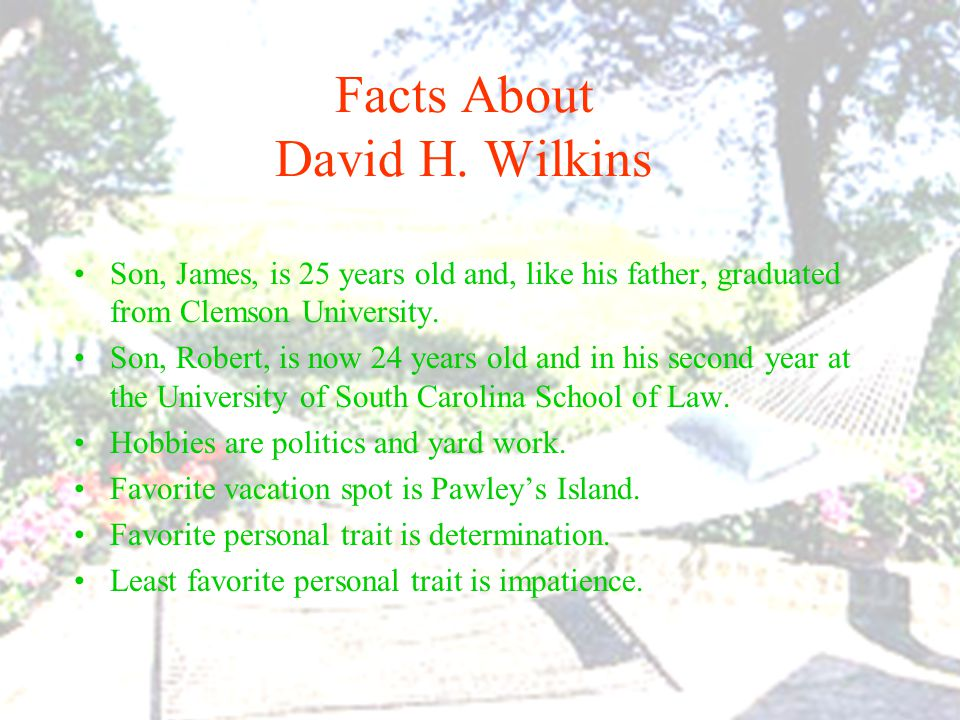 Facts About David H.
