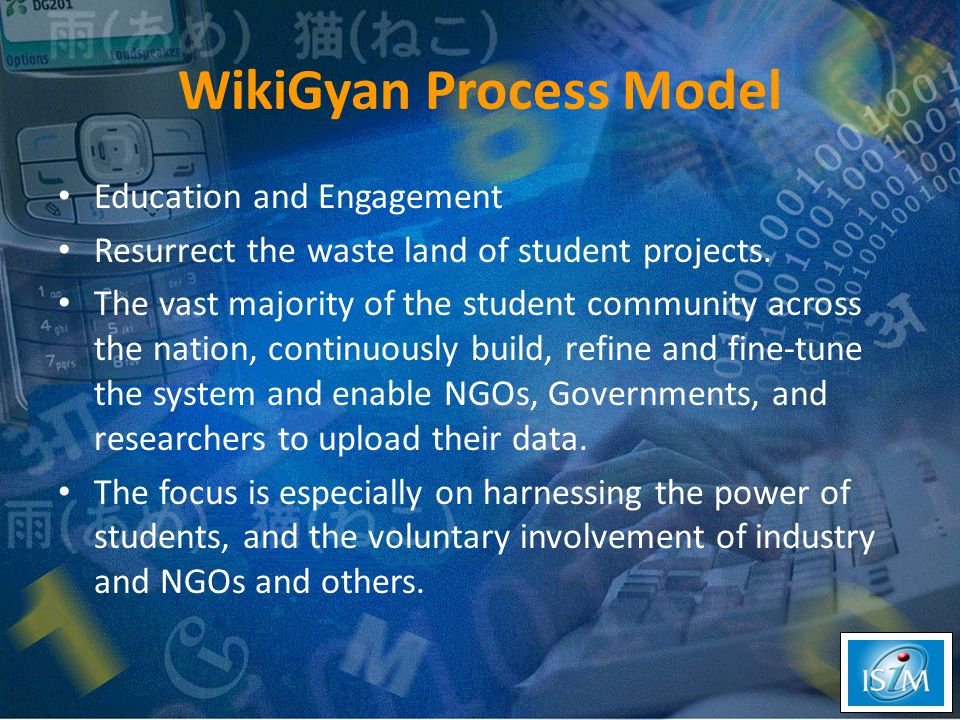 WikiGyan Process Model Education and Engagement Resurrect the waste land of student projects.