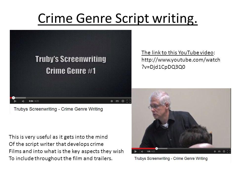 Crime Genre Script writing.