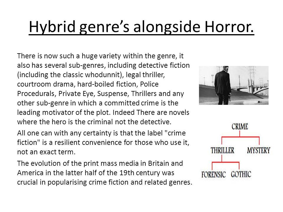 Hybrid genre's alongside Horror.