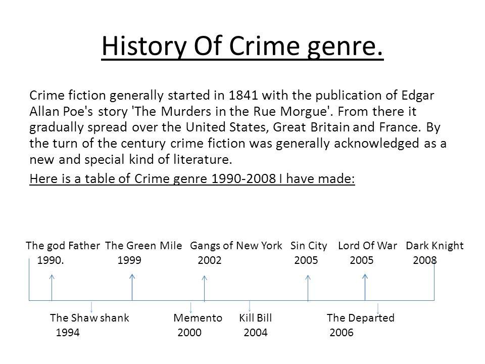 History Of Crime genre.