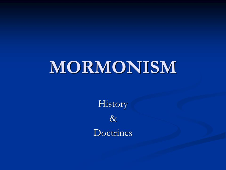 Mormon History Overview of Mormon Faith Most successful/distinctive religion born in USA Most successful/distinctive religion born in USA Founded as a Restoration Movement in 1830 by Joseph Smith Jr.