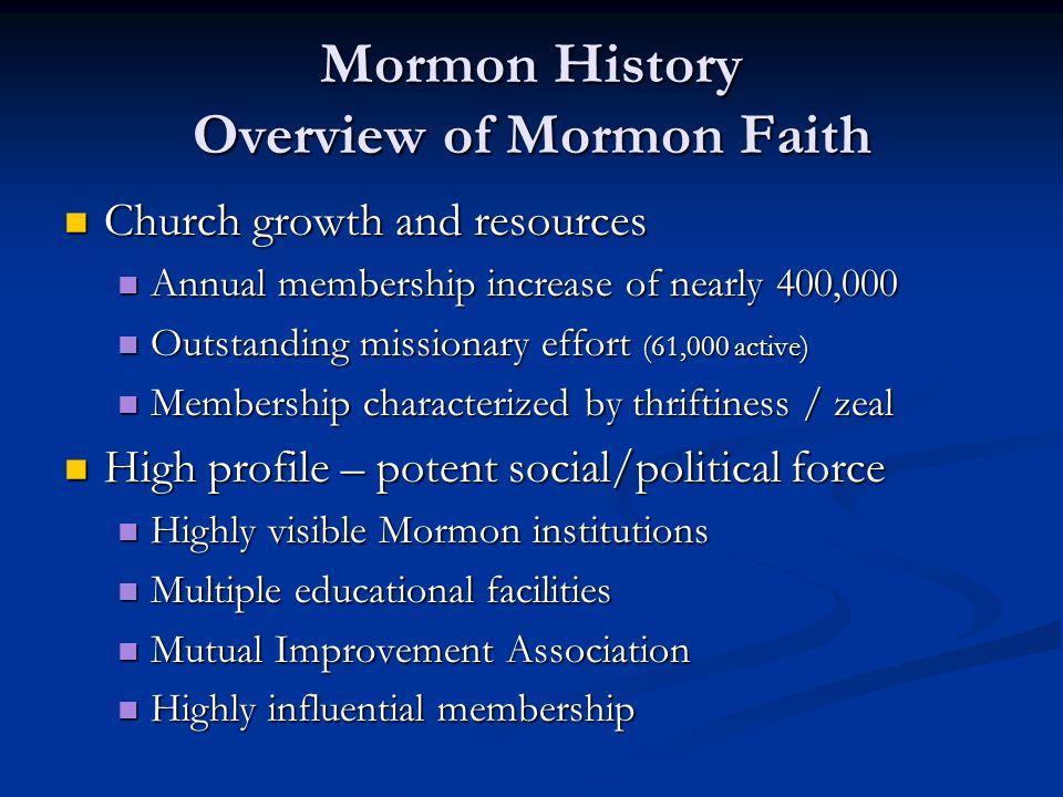 Mormon History LDS Origins: History of Joseph Smith Jr.