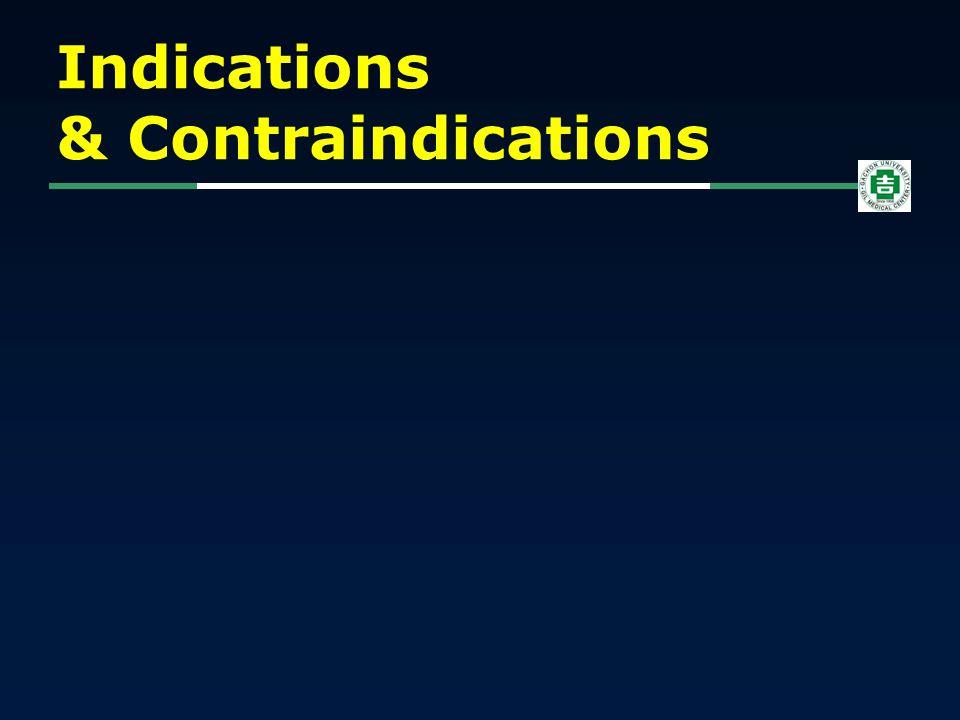 Indications & Contraindications