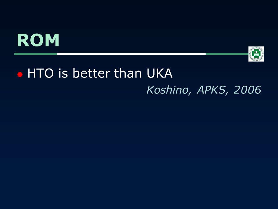 HTO is better than UKA Koshino, APKS, 2006 ROM