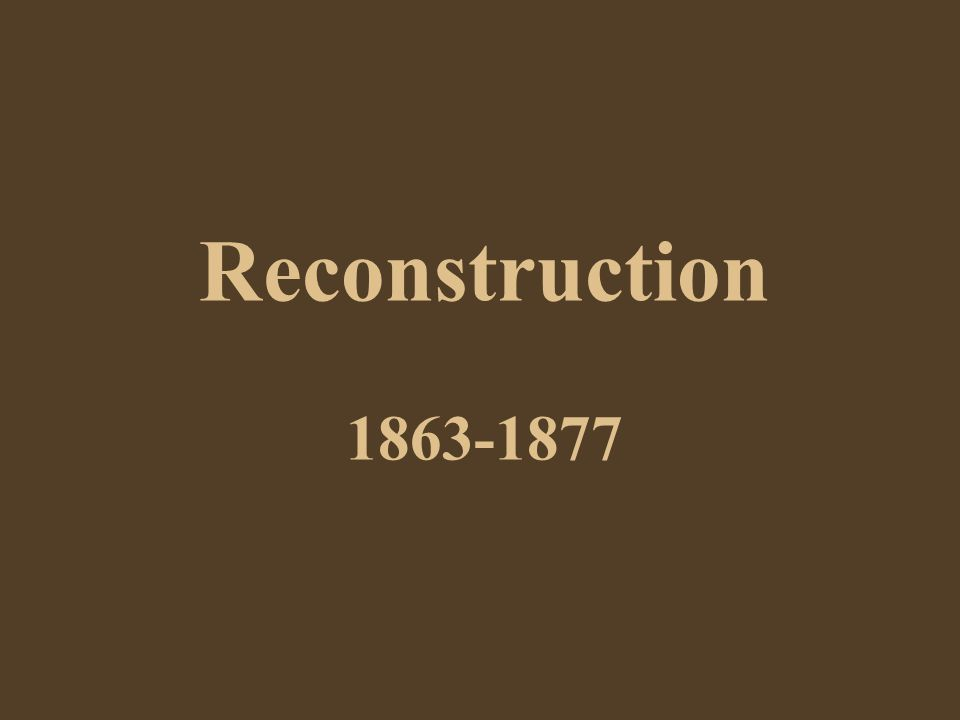 Andrew Johnson Gave the impression to the Republicans that he favored their Reconstruction Plan – they felt that he would be spiteful towards the Southern planters whom he professed to hate, and also that he would want to be tough in Reconstructing the South But he soon disappointed them - began to implement a plan almost identical to Lincoln's: 10% of the voters…..but in addition with acceptance of the new 13 th Amendment, and repudiation of war debts….then they could re-join the Union