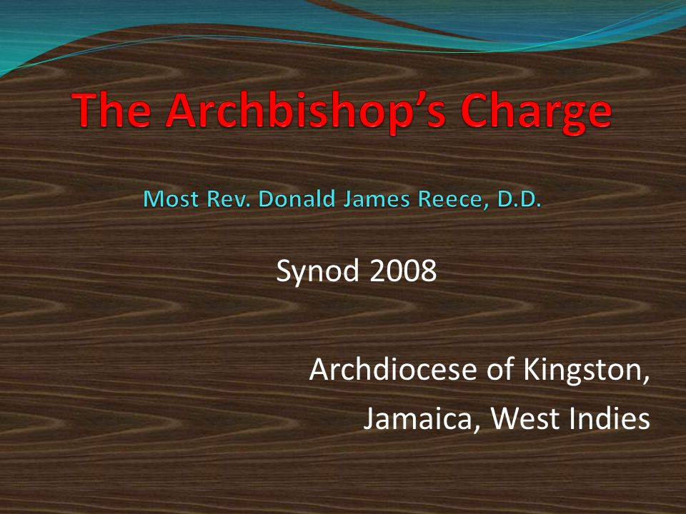 Synod 2008 Archdiocese of Kingston, Jamaica, West Indies