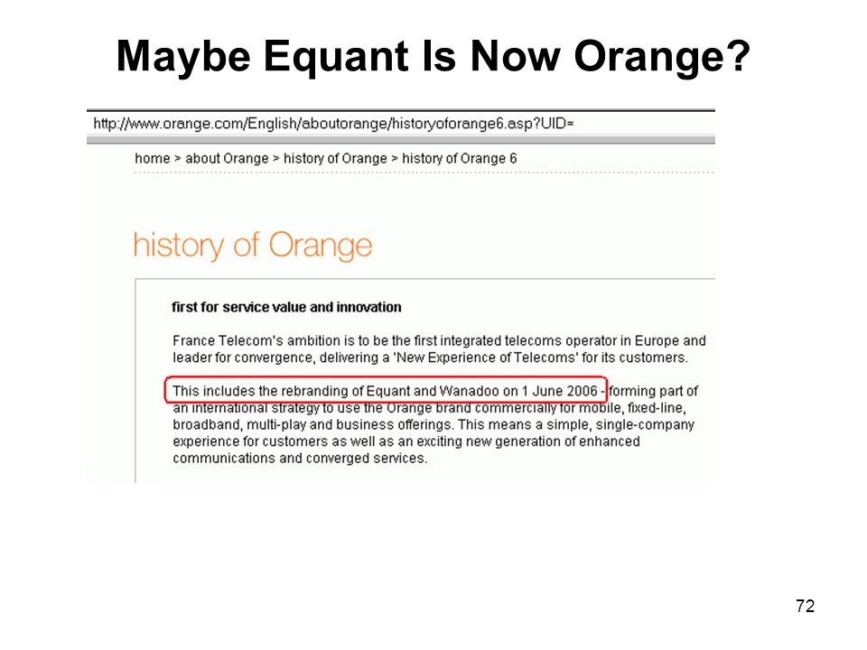 72 Maybe Equant Is Now Orange