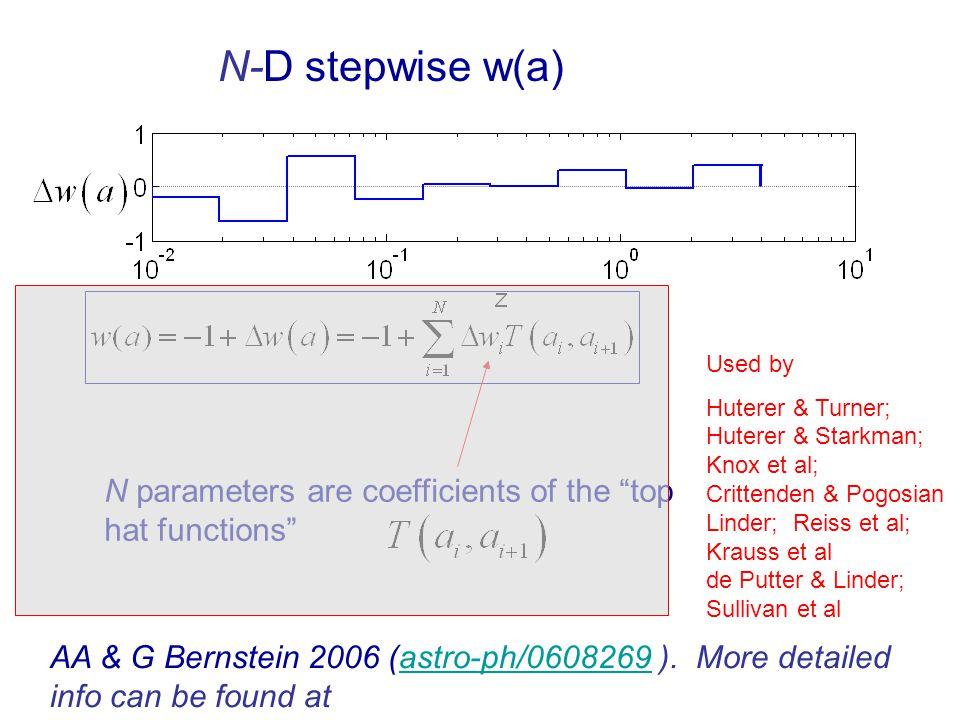 AA & G Bernstein 2006 (astro-ph/0608269 ). More detailed info can be found at http://www.physics.ucdavis.edu/Cosmology/albrecht/MoreInfo0608269/astro-