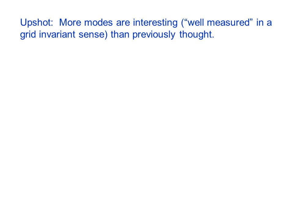 Upshot: More modes are interesting ( well measured in a grid invariant sense) than previously thought.