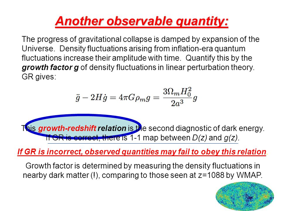 Another observable quantity: The progress of gravitational collapse is damped by expansion of the Universe.