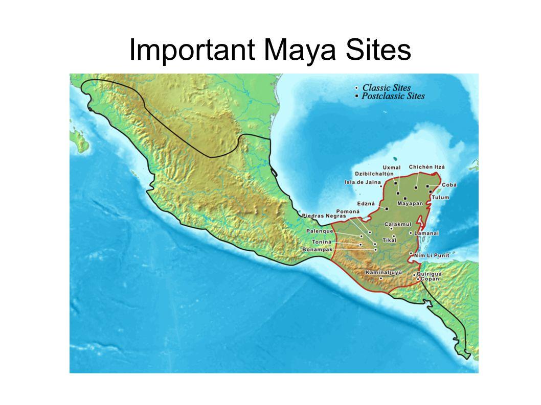 Important Maya Sites