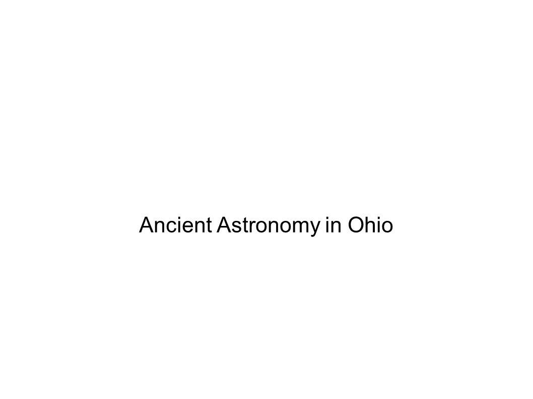 Ancient Astronomy in Ohio
