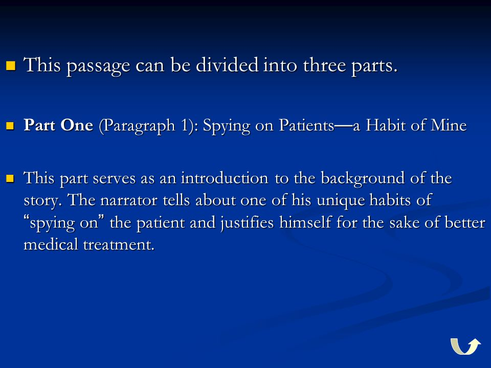 This passage can be divided into three parts. This passage can be divided into three parts.
