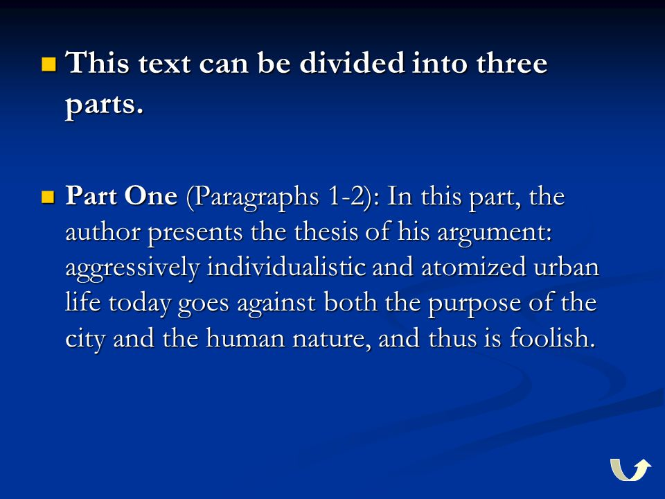 This text can be divided into three parts. This text can be divided into three parts.