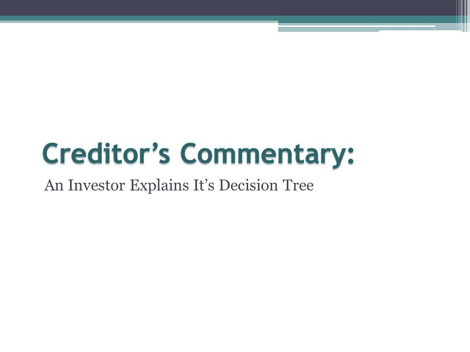 An Investor Explains It's Decision Tree