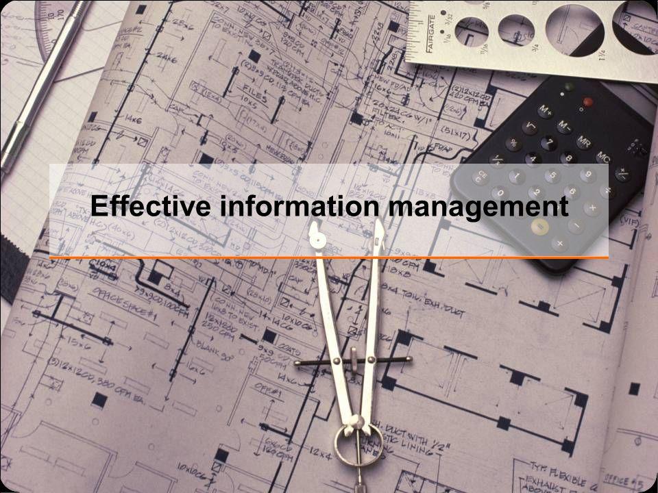 Effective information management