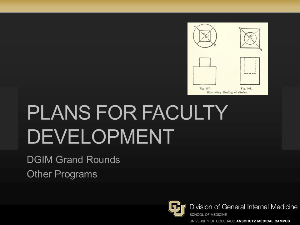 PLANS FOR FACULTY DEVELOPMENT DGIM Grand Rounds Other Programs