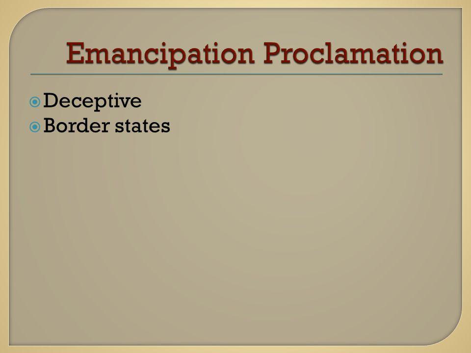  Deceptive  Border states