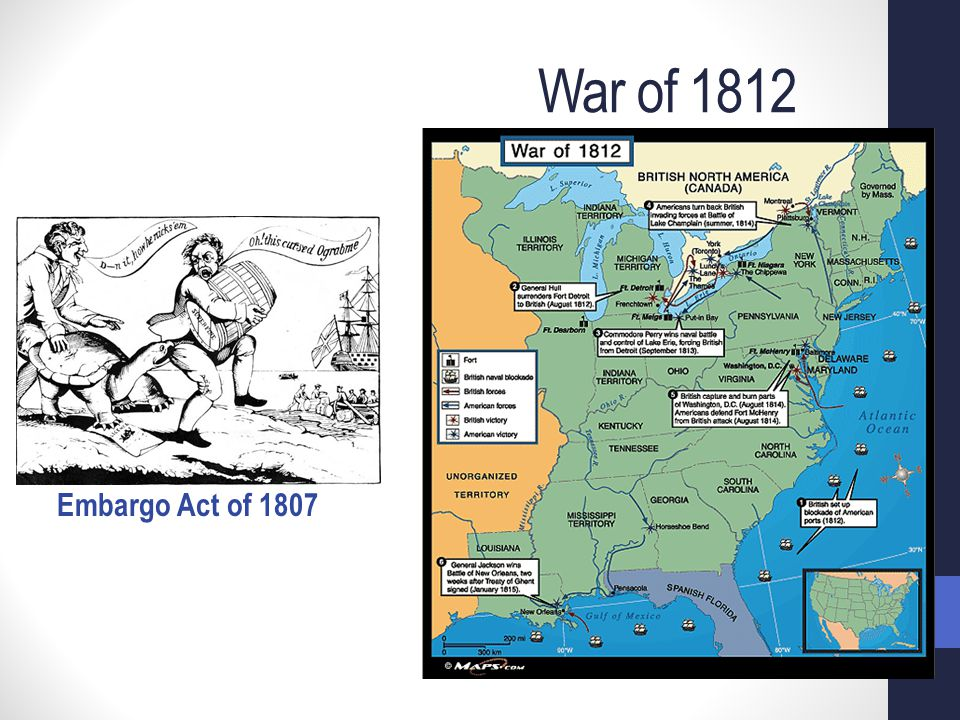 War of 1812 Embargo Act of 1807