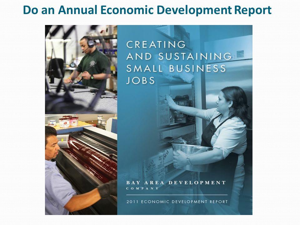 Do an Annual Economic Development Report