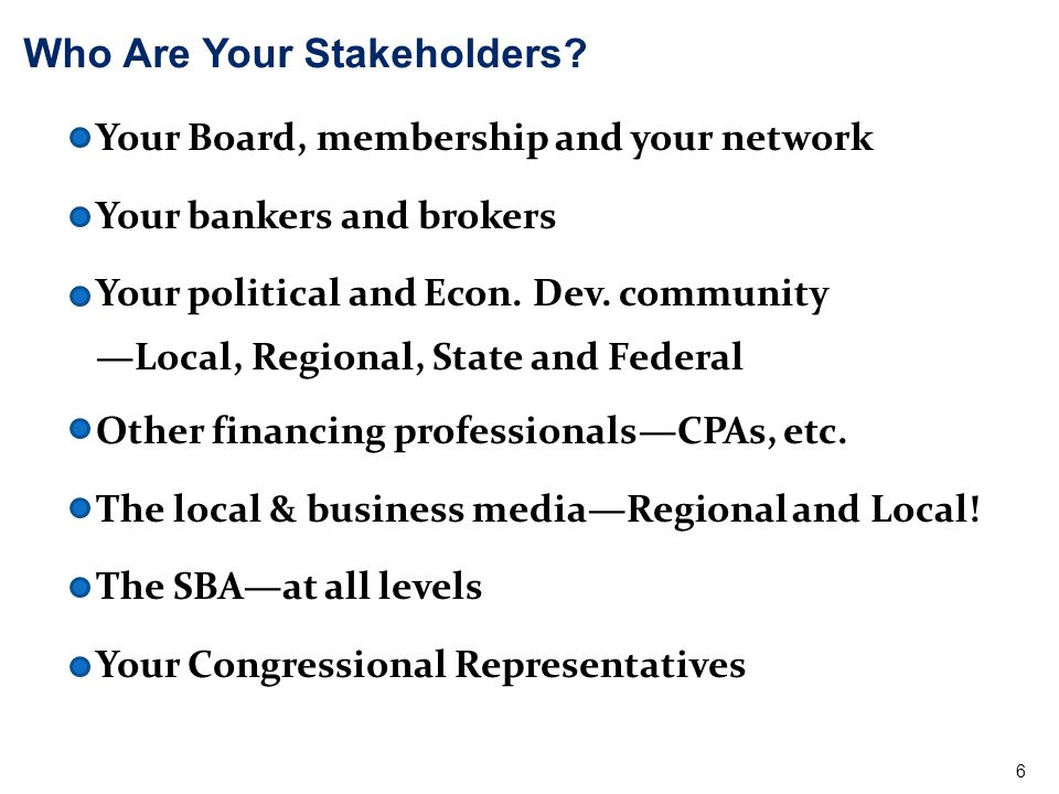 Who Are Your Stakeholders.