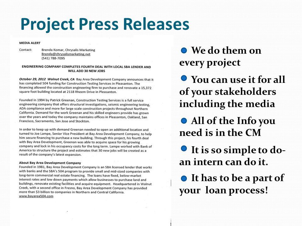 High Impact Project Summaries