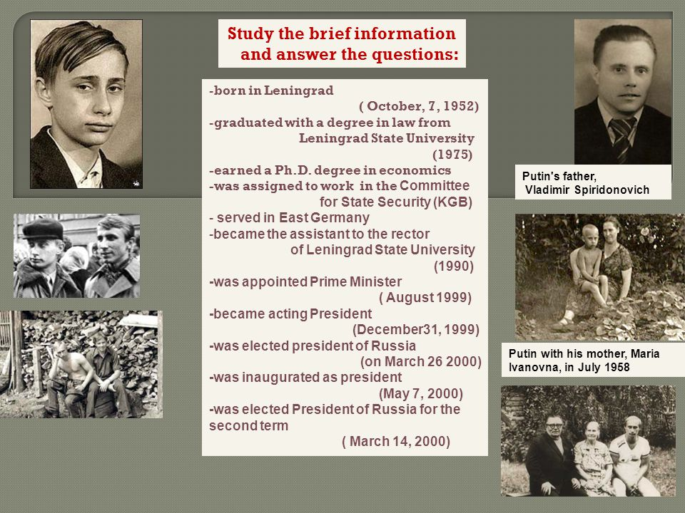 KGB career Putin served 15 years as a foreign intelligence officer for the Committee for State Security (KGB), including six years in Dresden(1985 to 1990), East Germany.KGBDresden