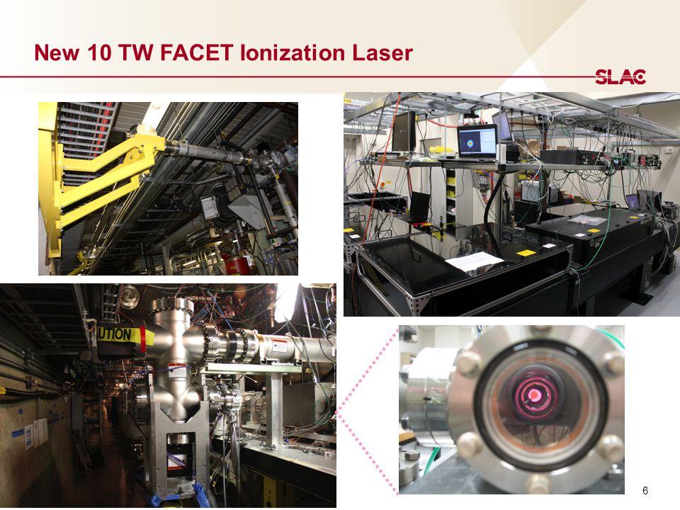 6 New 10 TW FACET Ionization Laser