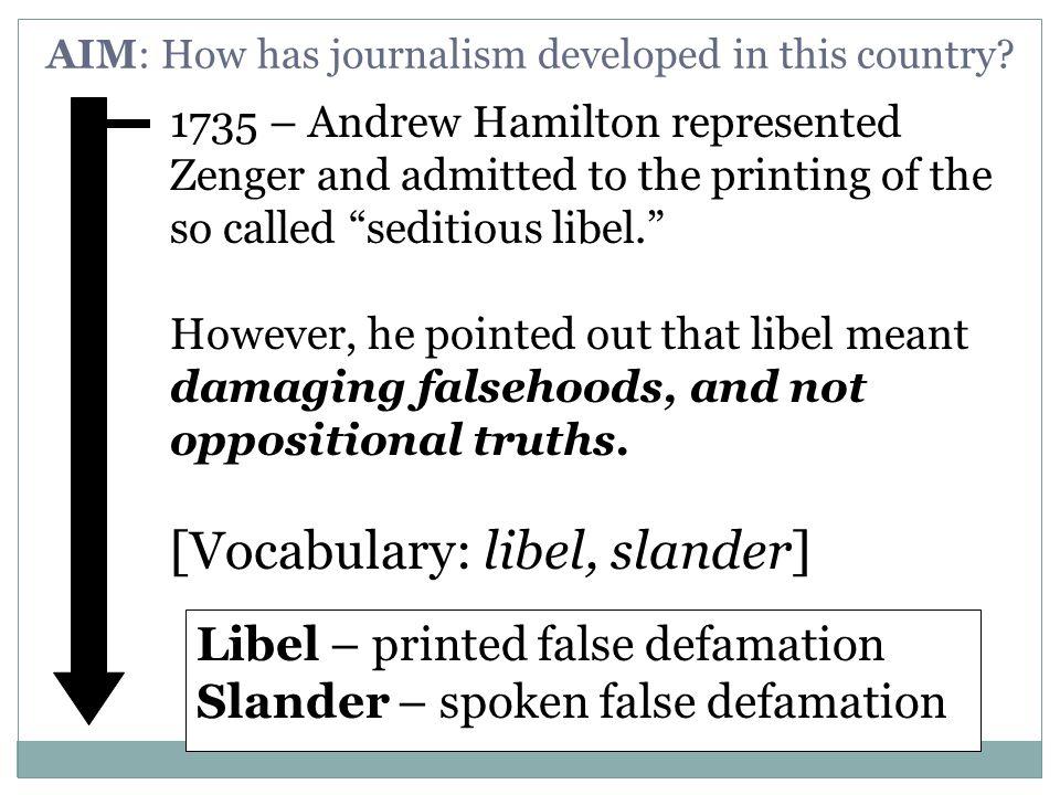WHO IS J.P.ZENGER??. John Paul Zenger fought back in 1735.