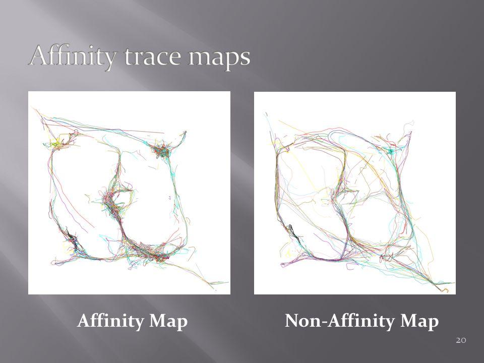 Affinity MapNon-Affinity Map 20
