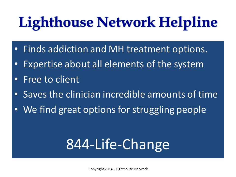 Finds addiction and MH treatment options.