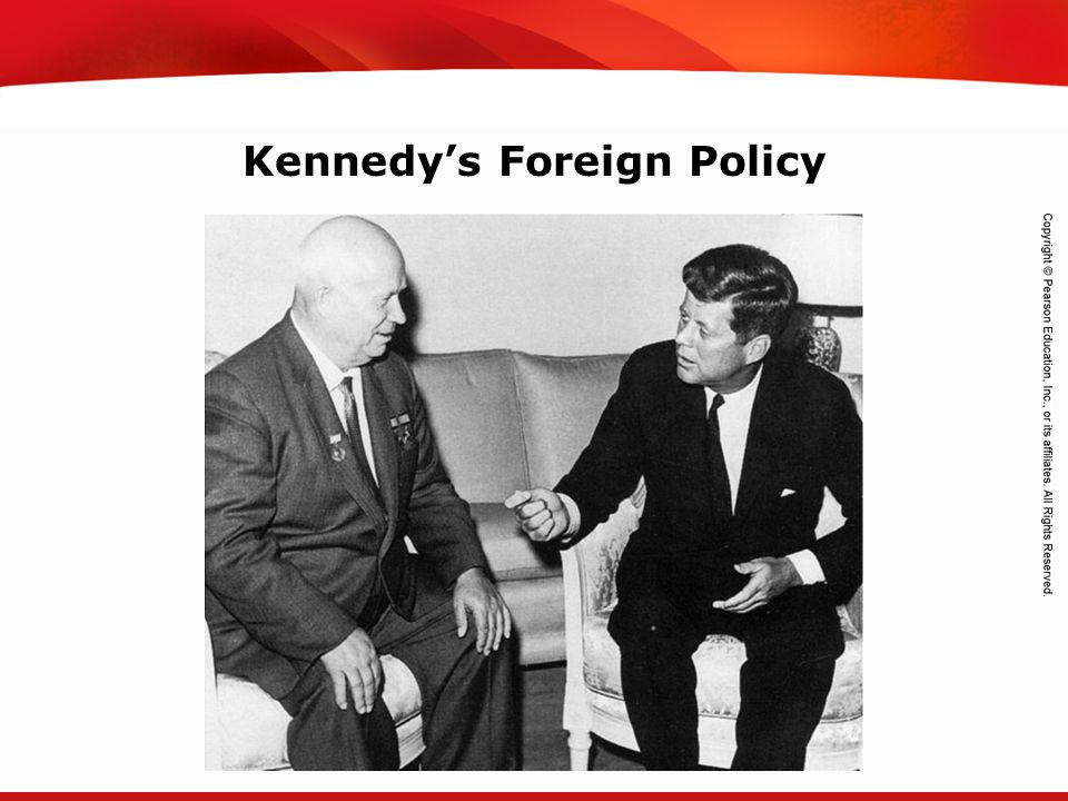 TEKS 8C: Calculate percent composition and empirical and molecular formulas. Kennedy's Foreign Policy