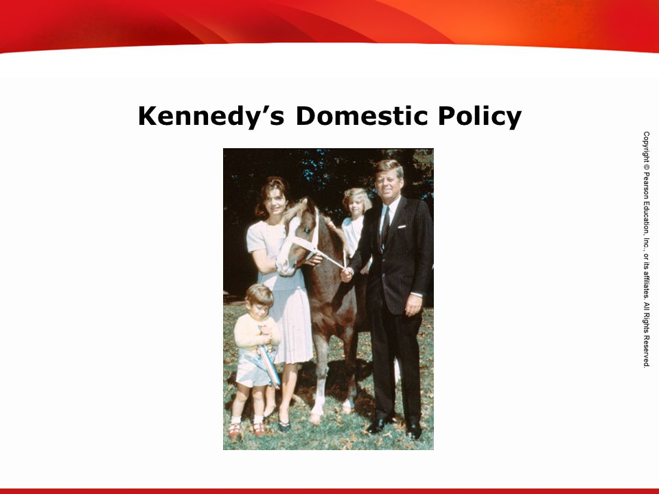 TEKS 8C: Calculate percent composition and empirical and molecular formulas. Kennedy's Domestic Policy