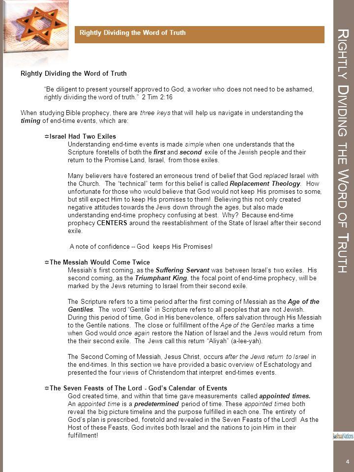 W HY STUDY P ROPHECY ./ L ESSON SEVEN Antichrist Revealed Read Matthew 24:15-25.