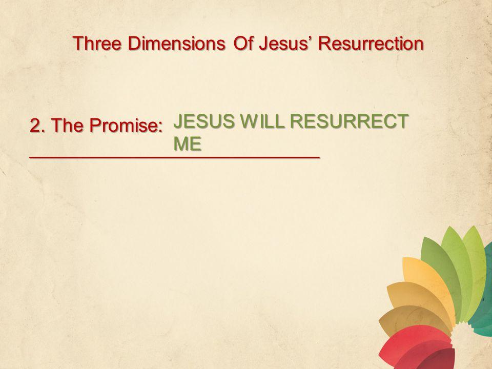 Three Dimensions Of Jesus' Resurrection 2.