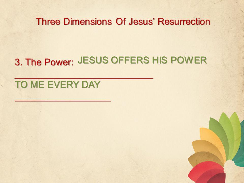 Three Dimensions Of Jesus' Resurrection 3.