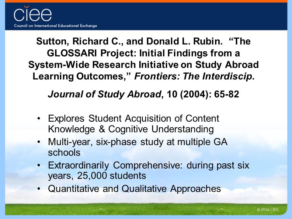 Sutton, Richard C., and Donald L. Rubin.