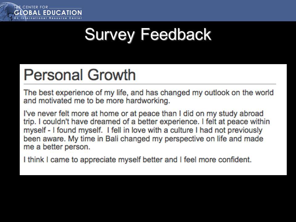 Survey Feedback