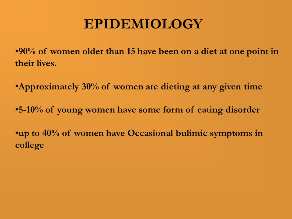 90% of women older than 15 have been on a diet at one point in their lives.