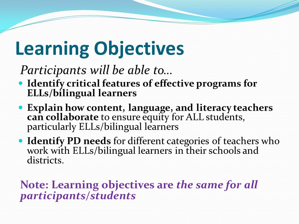 Positive Sociocultural Context  Strong, knowledgeable leadership and qualified teachers  Resource orientation to linguistic and cultural diversity  Responsive to community strengths, needs, and interests  Shared responsibility for ELL education  Balanced assessment and accountability system  Collaborative relationships  Perceived as a successful school Common Core-aligned content-area instruction  In two languages in bilingual programs  In English in content area classes in ESL programs  Authentic assessments Standards-driven ESL (new language) instruction  Stand-alone ESL class  Pull-out ESL  Push-in ESL  Authentic assessments Support for home language and biliteracy development  In bilingual program  In home language program  Creatively in English-medium program  Authentic assessments Critical features of effective programs for bilingual learners (handout p.