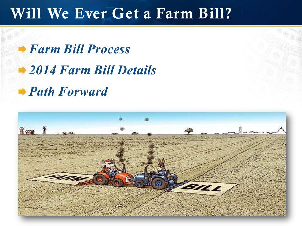 Will We Ever Get a Farm Bill  Farm Bill Process  2014 Farm Bill Details  Path Forward