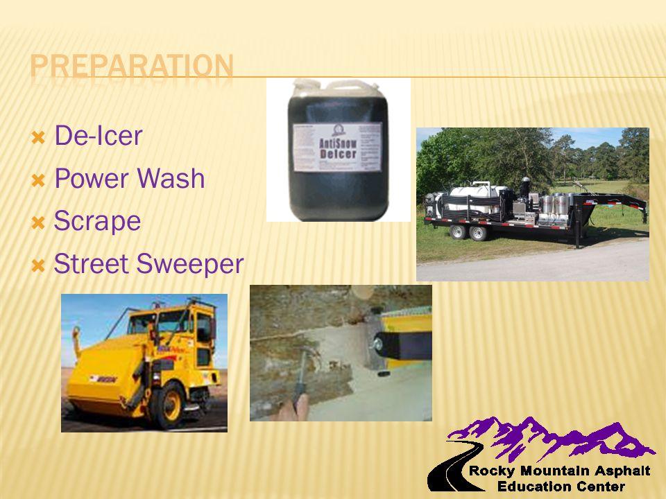  De-Icer  Power Wash  Scrape  Street Sweeper