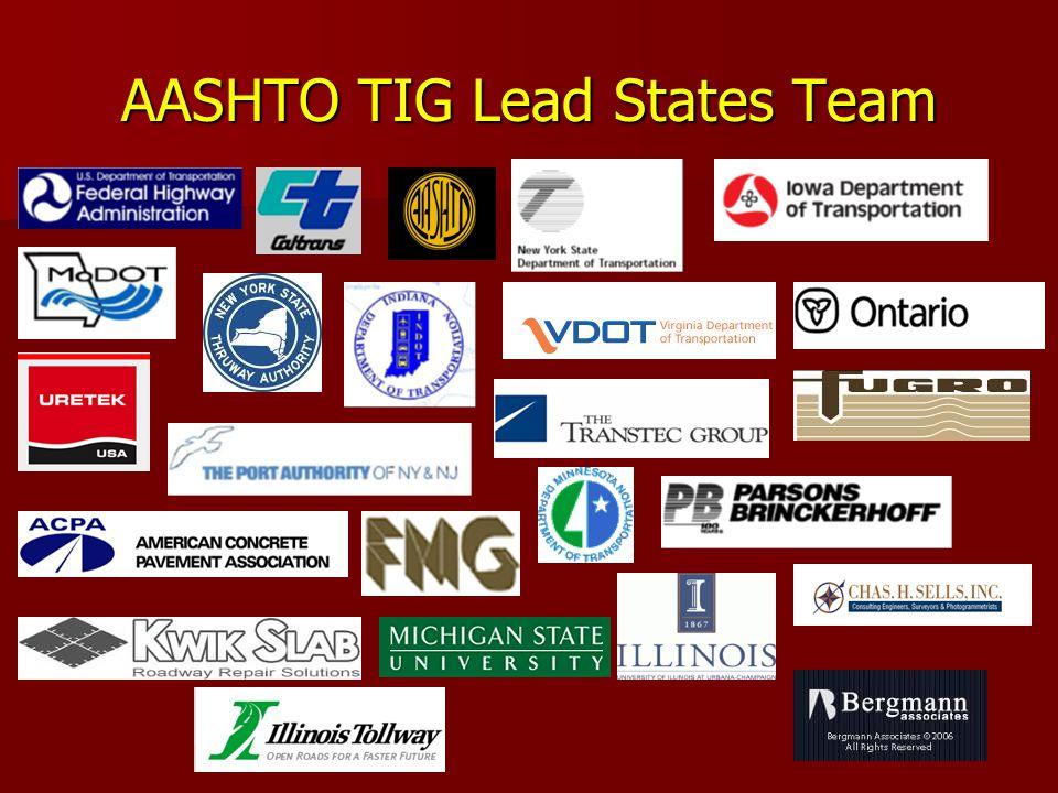 AASHTO TIG Lead States Team