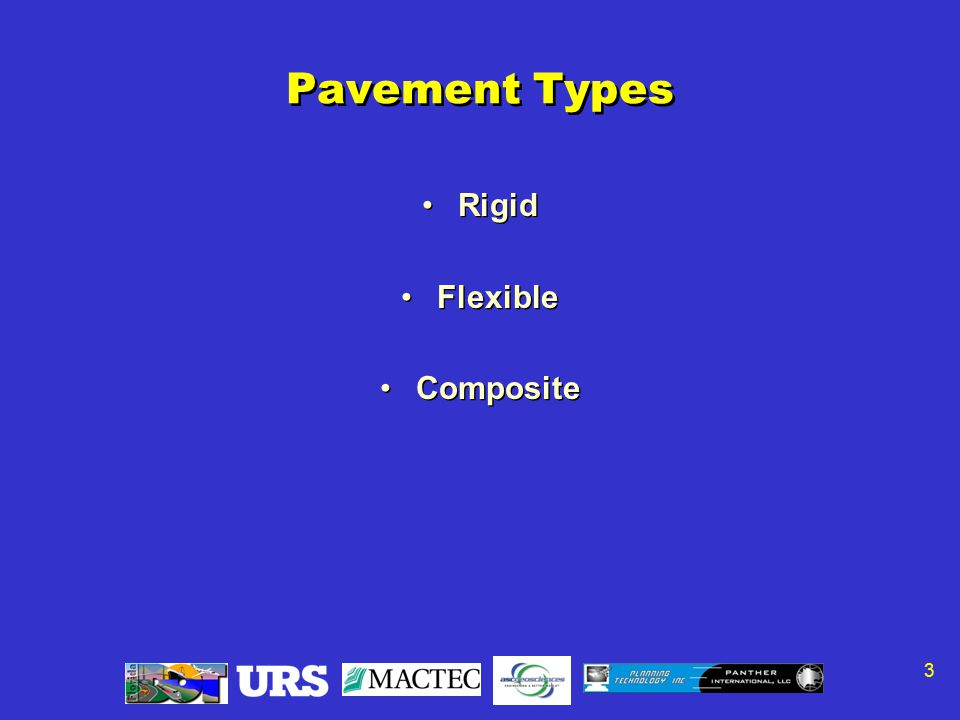 3 Pavement Types Rigid Flexible Composite Rigid Flexible Composite